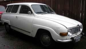 1972 Saab 95 side