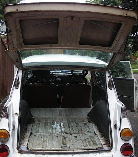 1972 Saab 95 trunk