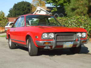 1973 Fiat 124 coupe front