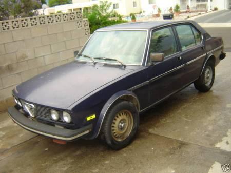 1979 Alfa sedan front