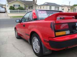 1986 Toyota MR2 rear