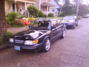 1989 Saab 900 SPG front