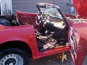 1971 Triumph TR6 interior