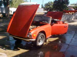 1971 Triumph TR6 left quarter