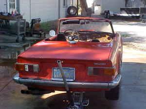 1971 Triumph TR6 rear