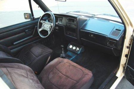 1984 VW GTI interior