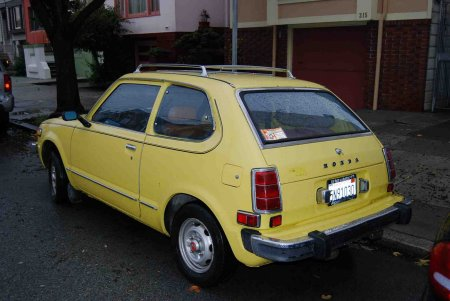 1975 Honda Civic rear