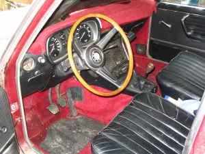 1970 BMW 2800 interior