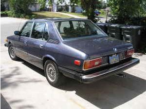 1979 BMW 528i rear