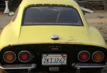 1970 Opel GT rear