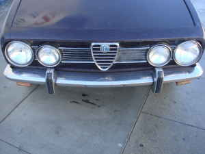 1969 Alfa Romeo Berlina nose