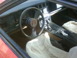 1985 Chevrolet Corvette interior
