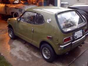1972 Honda AZ600 rear