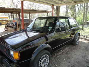 1984 VW GTI black left