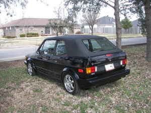 1989 VW Cabriolet black left