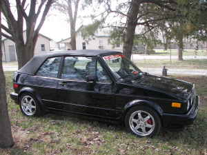 1989 VW Cabriolet black right
