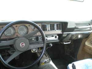 1972 Chevrolet Vega Kammback interior