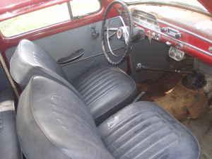 1962 Volvo 544 interior
