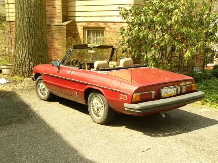 1981 Alfa Romeo Spider Veloce left