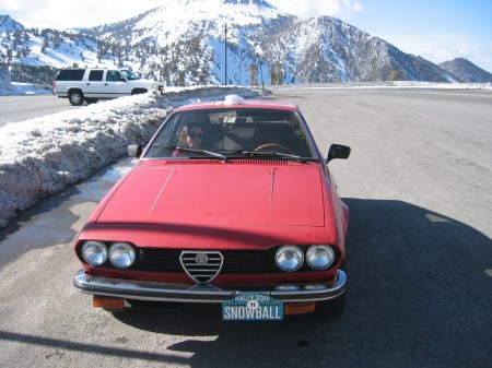 1979 Alfetta GT on Mt. Rose