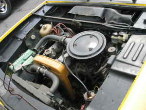 1973 Fiat 124 coupe engine