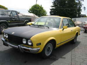 1973 Fiat 124 coupe left