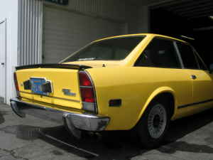 1973 Fiat 124 coupe rear