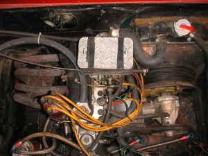 1967 Fiat 850 spider engine