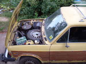 1976 Fiat 128 wagon engine