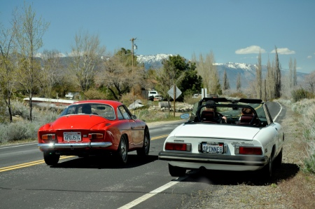 1977 Alfa Spider & 1969 Dinalpin A110 on Snowball 2011