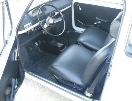 1971 Fiat 850 sedan interior