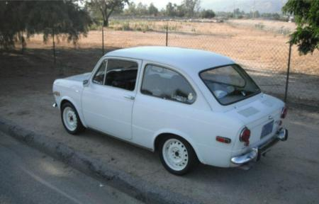 1971 Fiat 850 sedan rear