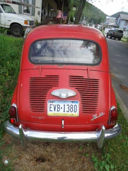 1967 Fiat 600 rear