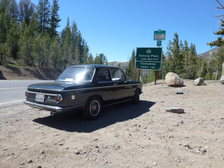 1972 BMW 2002tii at Sonora Pass 1