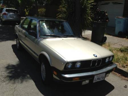 1985 BMW 325e right front