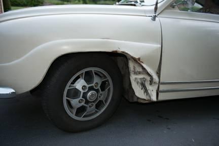 1968 Saab 96 damage
