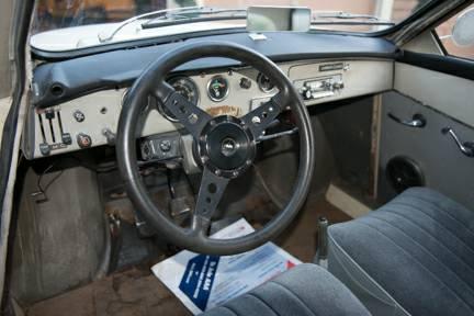 1968 Saab 96 interior