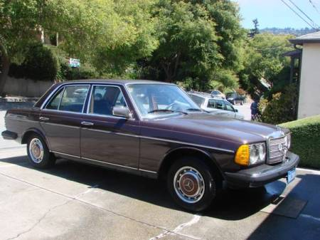 1977 Mercedes 280E right front