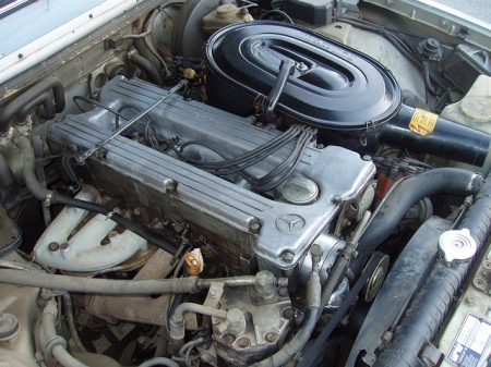 1981 Mercedes 280E engine