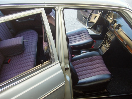 1981 Mercedes 280E interior