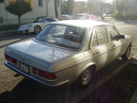 1981 Mercedes 280E right rear