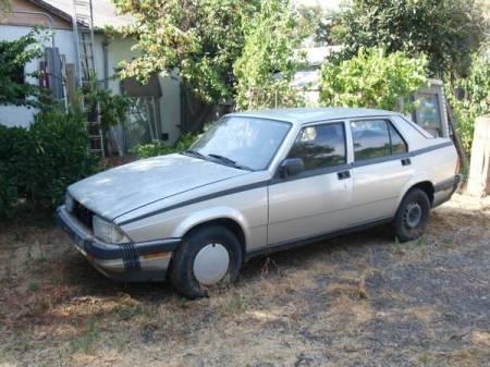 1987 Alfa Romeo Milano Silver left front