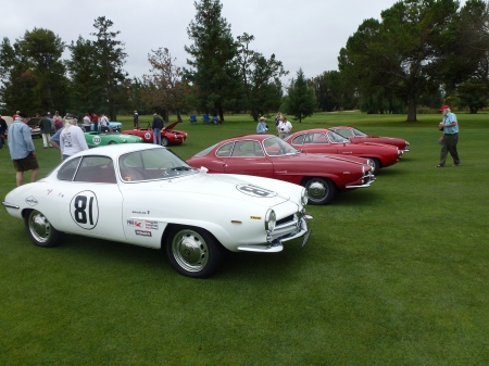 Alfa SS row with Sebring car