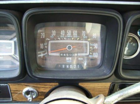 1978 AMC Matador speedometer