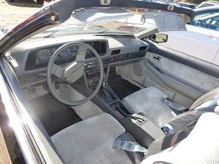 1983 Datsun 200SX convertible interior