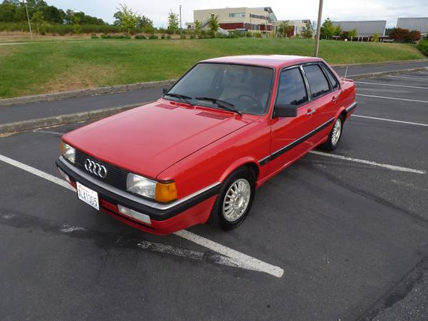 First Awd 1987 Audi 4000 Cs Quattro Rusty But Trusty