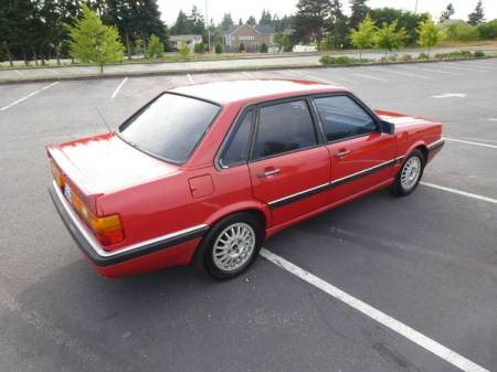 1987 Audi 4000 right rear