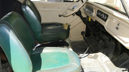 1961 Chevrolet Corvair 95 van interior