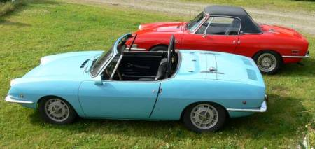 1968 Fiat 850 pair left rear