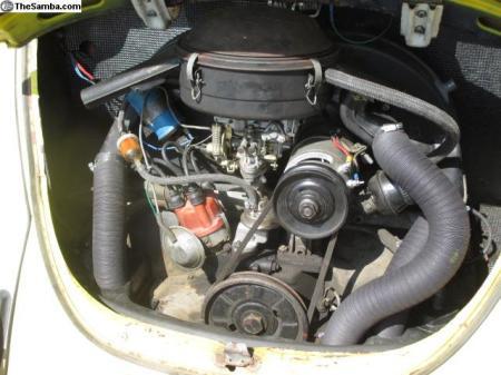 1968 VW Type 1 Beetle engine